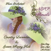 NSP Country Lavender & Green Floppy Hat (brown)
