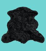 Black Bear Fur Rug animal skins