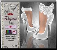 fR-shoes elegance white. Wedding, bridal, formal,  Dollarbie, offer, special price, shoes, heels, sandals, pums