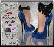 fR-shoes elegance b/blue, Wedding, bridal, formal, gown, hud, shoes, heels, sandals, pums,  Dollarbie, free, offer,