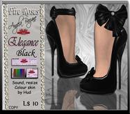 fR-shoes elegance black. Wedding, bridal, formal, gown,  Dollarbie, free, offer, special p, shoes, heels, sandals, pumps