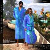 :KR: Ocean Stripes Bathrobe Ladies)