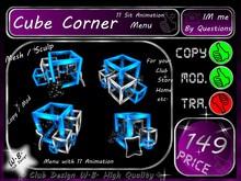Cube Corner & 11 Sit Animation ( Menu )