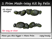 1 Prim Mesh-Way Kit by Felix 22 stones straight copy-mody