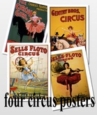 4 Circus posters