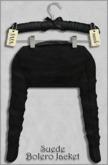 { ViVi } Suede Bolero Jacket - Black - 100% MESH