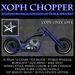 Xoph Chopper with pentacle (wiccan, bike, motorcycle)