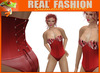 """REAL FASHION"" Feathers corset - Red"