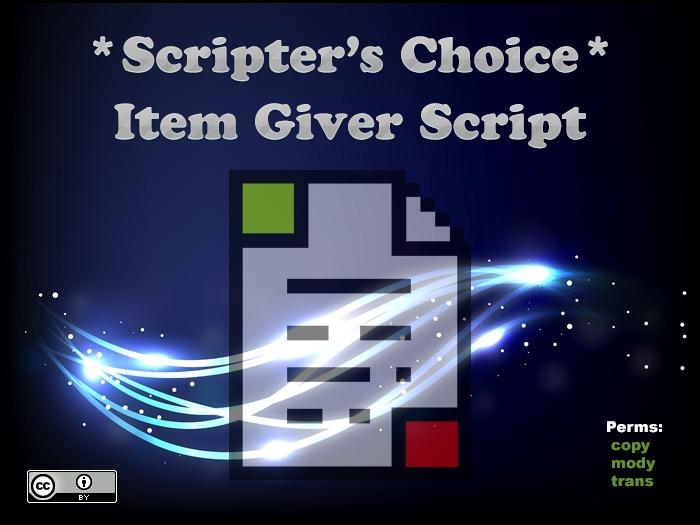 *SC* Item Giver Script