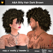 A&A Billy Hair Dark Brown (Special Color). Unisex punk mohawk hairstyle