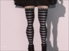 {Tilly} - [Free!] Lace Striped Leggings