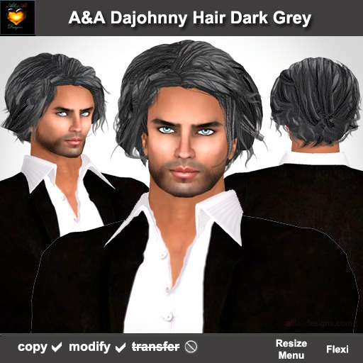 A&A Dajohnny Hair Dark Grey (short men's hairstyle)