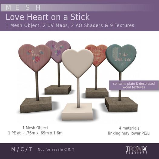 Trowix - Heart On a Stick Mesh Pack