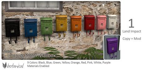 Botanical - Vintage Porch Mailbox