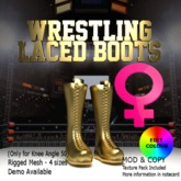 Wrestling Laced Boots - Female