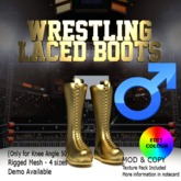 Wrestling Laced Boots - Male