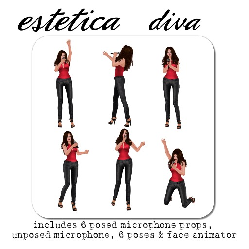estetica: vanity: diva (microphone pose prop)