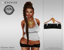 KENVIE . Denim Skirt Black