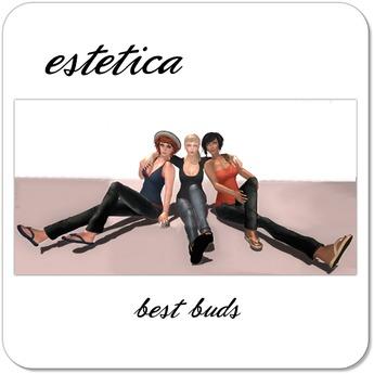 estetica: best buds (3 friends pose)
