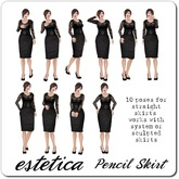estetica: pencil skirt ~ 10 poses for straight skirts