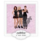estetica: c'est chic (3 friends pose)