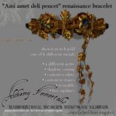 """) AI ( - """"Ami amet deli pencet"""" Renaissance Bracelet (Unisex/Colour-Changing/Resizable) - $275 on sale for $225"""