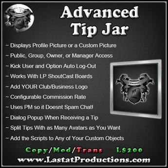 Advanced Tip Jar / Donation Tip Jar w/Commission