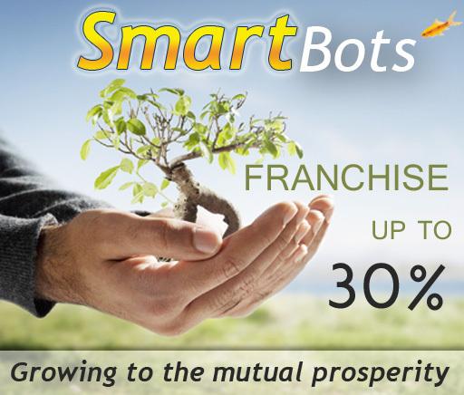 SmartBots Franchise - basic plan (upgradable, up to 30%)