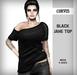 Corvus : Black Jane Top