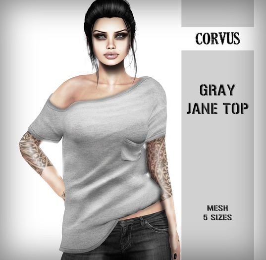 Corvus : Gray Jane Top