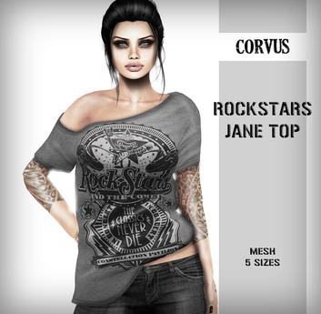 Corvus : Rockstars Jane Top