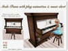 Mesh Piano with Music Sheet (plays Schubert Impromptu OP90)