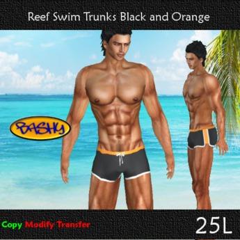::BASHY:: Reef Swim Boxers Black and Orange