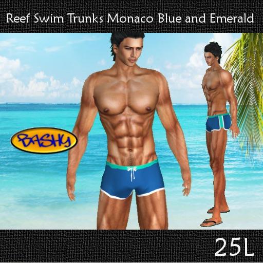 ::BASHY:: Reef Swim Boxers  Monaco Blue and Emerald