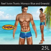 ::BASHY:: Reef Swim Boxers  Monaco Blue and Emerald (WEAR TO UN