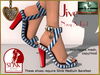 Bliensen + MaiTai - Jive - Shoes for Slink - Navy & Red