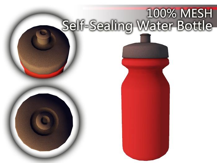 {CH} Self-Sealing Water Bottle Red 22Oz.