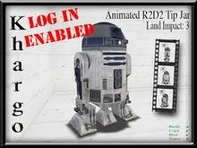 Khargo: Animated R2D2 Tip Jar / Tipjar - Log In Version for Clubs / Employees / Split Tips