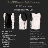 Close Out Sale Full Permission Men's Biker MC Cut
