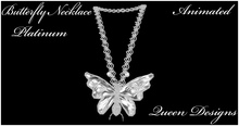 Butterfly Necklace Platinum
