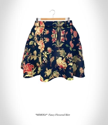PROMO *MIMOSA* Fancy Flowered Skirt