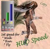 HUD Speed Walk Run and Fly