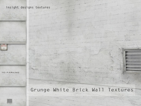 Second Life Marketplace Id Grunge White Brick Wall And Floor Full Permission Textures Insight Designs