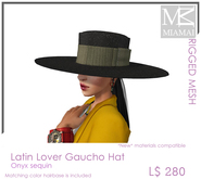 Miamai_Latin Lover Gaucho Onyx hat - unisex