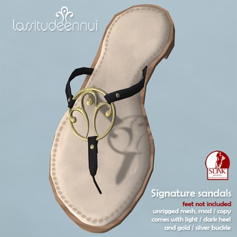 lassitude & ennui Signature sandals for SLINK feet - black