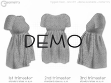 < Geometry > Tee Dress . Tiny Flowers > DEMO