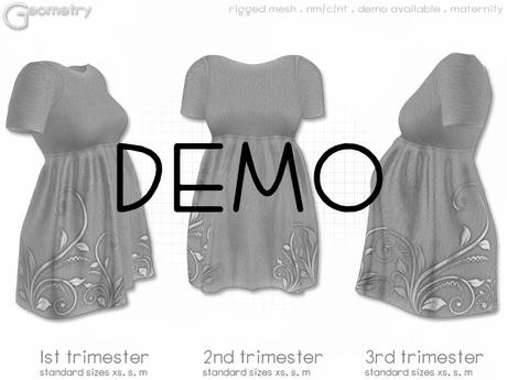 < Geometry > Tee Dress . Shiny Swirl > DEMO