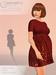 Tee dress shiny siwrl poster