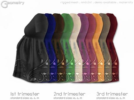 < Geometry > Tee Dress . Shiny Swirl > All Colors