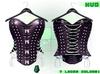 :{F.A.D.}: Briar Leather Studded Corset Nightfall